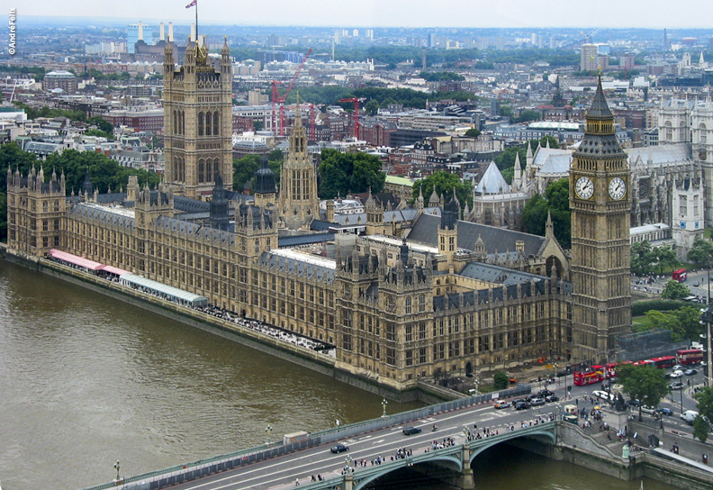 Houses of Parliament in Westminster UK