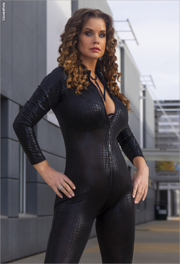 Carrie Stevens Playboy Playmate Catsuit